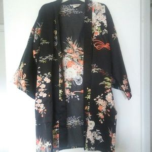 IchiKan Open Kimono Black & Orange
